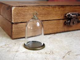 diy miniature glass dome terrarium necklace with antique brass