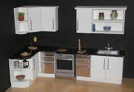 miniature dollhouse kitchen furniture white modern 1 12th scale dollhouse kitchen dollhouse furniture