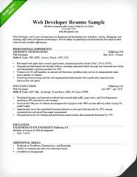 software experience resume sample download web developer resume