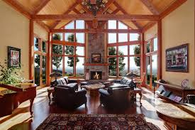 house plans with vaulted great room one story rustic house plan design alpine lodge great room vaulted