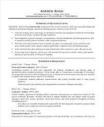 Sample Resume For Construction Site Supervisor by Printable Resume Template 29 Free Word Pdf Documents Download