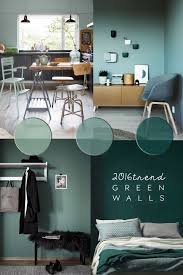 Home Decor Trends For Spring 2016 Green Wall Paint Interiors Green Wall Paints And Blog