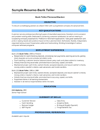 Resume Templates For Banking Professional Bangking Resume Sles Personal Bangker Resume