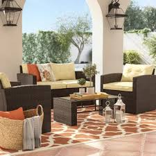 Wicker Patio Table Set Wicker Patio Furniture You Ll Wayfair