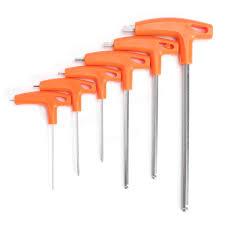Hex Key Set by 6pcs T Handle Ball Ended Hex Key Set Long Reach Allen Screwdriver
