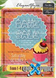 free bake sale flyer v5 invitation template download