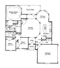 floor plan of a house country house plans with porches southern house plan home country