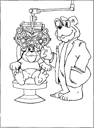 eye doctor coloring coloring