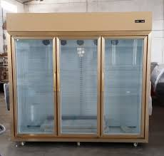 medicine single glass door vertical upright display refrigerators