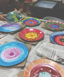 ceramic painting workshop mumbai blue bulb paint plates mugs