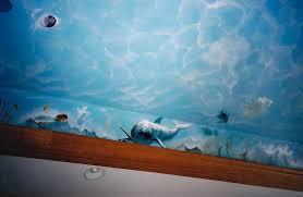 fresco interior design studio billiard room ceiling mural