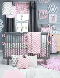 Gray And White Chevron Crib Bedding Pink And Yellow Crib Bedding