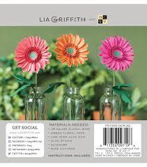 lia griffith paper flower garden gerbera daisies joann