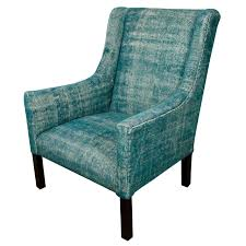 Teal Lounge Chair Indian Dhurrie Upholstered Teal Arm Chair At 1stdibs