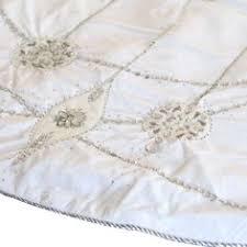 white tree skirt 56 white velvet santa hat tree skirt with sequins and