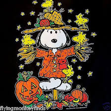 peanuts halloween snoopy woodstock scarecrow great pumpkin fall t