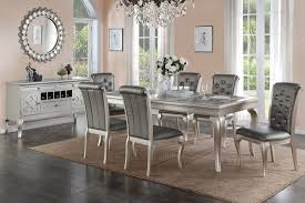 silver dining room sets glamorous decor ideas creative decoration