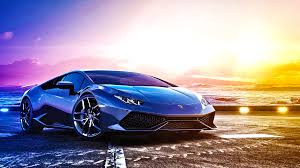 car lamborghini blue blue sports car lamborghini huracan lp 610 4 on background of
