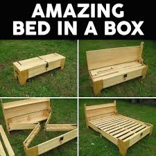 Making A Pallet Bed How To Make This Amazing Diy Wood U0027bed In A Box U0027 U2022 Awesomejelly Com