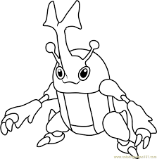 heracross pokemon coloring page free pokémon coloring pages