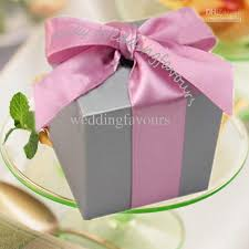Wedding Candy Boxes Wholesale Quality Candy Boxes Silver Colors Square Wedding Favors Boxes With