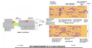 Bca Floor Plan Bca 07 Number Of Exits Required In A Class 2 Building Bca