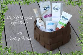 maine gift baskets diy recycled gift basket with all products my fashion juice