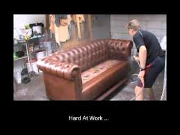 Leather Sofa Refinishing Professional Leather Restoration Nz Restoring Leather Sofa Youtube