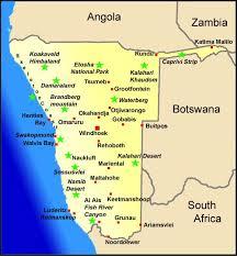 africa map kalahari namibia map and weather information namibia travel booking service