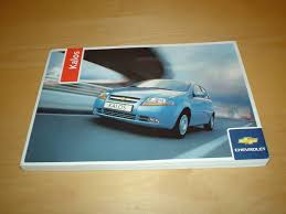 chevrolet kalos owners manual handbook chevy 1 2 1 4 litre
