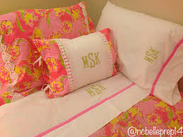 monogrammed lilly pulitzer day lily punch pink bedding from garnet