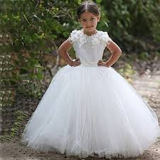 1st holy communion dresses aliexpress buy white ivory cap sleeves gown lace