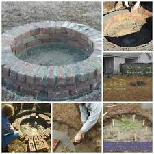 Concrete Fire Pit Exploding by Firepit Of Bricks With Breath Holes For Abode Pinterest