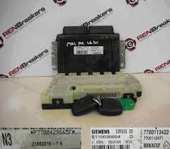 renault clio mk2 1998 2001 1 6 16v ecu set uch bcm immobiliser 2