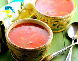garden tomato vegetable soup recipe genius kitchen