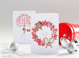 quick christmas cards lady pattern paper scrapbooking paper