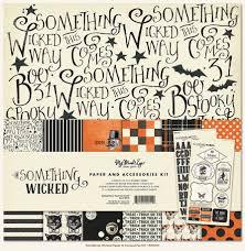 halloween scrapbook papers my mind u0027s eye something wicked collection halloween 12 x 12