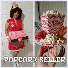 Popcorn Halloween Costume Popcorn Seller Costume Costume Popcorn