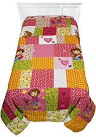 Dora Comforter Set Amazon Com Dora The Explorer And Puppy Cotton Rich Twin Sheet Set