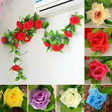 wholesale artificial flowers online shop wholesale 245cm silk roses vine artificial