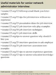 top 8 senior network administrator resume samples
