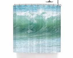 Shower Curtain Beach Theme Beach Shower Curtain Etsy