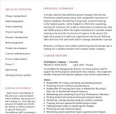 Technical Project Manager Resume Examples by 10 Project Manager Resume Templates Free Pdf Word Samples