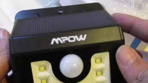 mpow solar light instructions mpow solar powered 8 led motion sensor light youtube