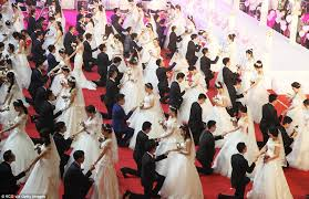 wedding china couples in mass wedding at nanjing uni daily mail