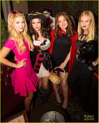 olivia holt u0026 cierra ramirez get in the halloween spirit at just