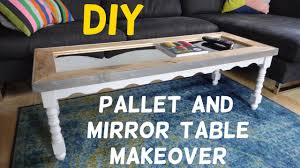 15 table makeover with pallet wood u0026 mirror top youtube