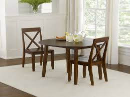 Solid Teak Dining Table Round Kitchen Table Sets Round Top Combined Small Rounded Dining