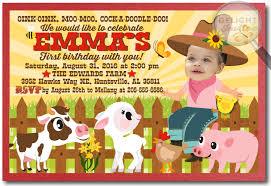 barnyard farm animals 1st birthday invitations di 270 harrison