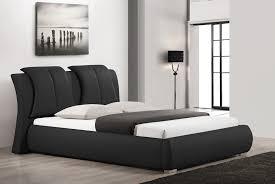 Black Leather Platform Bed Marino Modern Low Profile Platform Bed Set Regarding